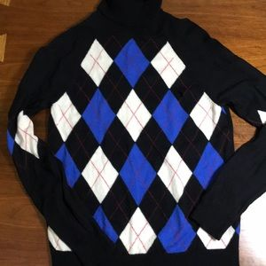Pendleton 100% wool argyle sweater small